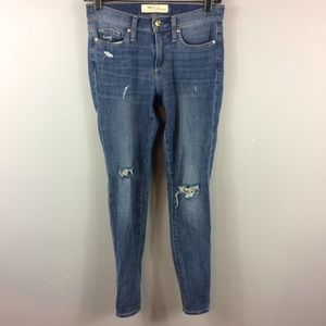 Gap 1969 Medium Wash Distressed Skinny Size 25